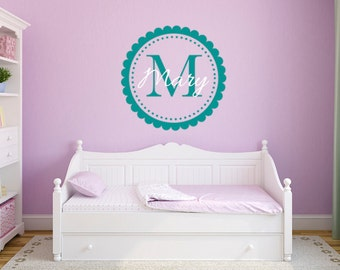 Name wall decal, Personalized wall decals for nursery, Wall stickers for bedroom, Girls wall decals, Name decals, Baby wall decals DB184