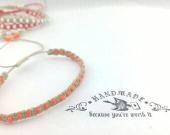 Custom Hemp Bracelet Handmade, Thin Beaded Bracelet, Hemp Bracelet, Beach  Bracelet, Hemp Jewelry, Summer  Bracelet, Boho Bracelet.