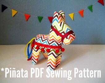 PDF Pattern Cinco de Mayo Small Plush Pinata