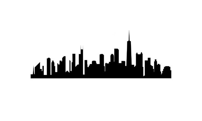 Chicago Skyline Rubber Stamp silhouette