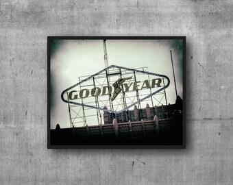 Goodyear Auto Photography Print - vintage sign photo