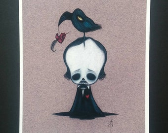 Poe - Limited edition Fine art giclee print