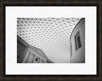 London Print, British Museum, London Photography, Black and White Fine Art Photography, Modern Architecture Photography
