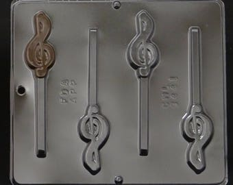 Musical G Clef Lollipop Chocolate Candy Mold 3441