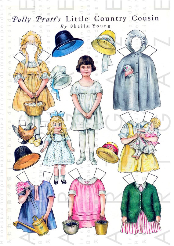 POLLY PRATT\'S Little Country Cousin. Sheila Young\'s Paper Dolls ...