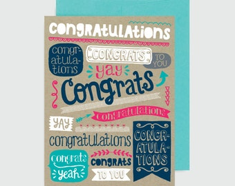 Congratulations Card - Text Congrats