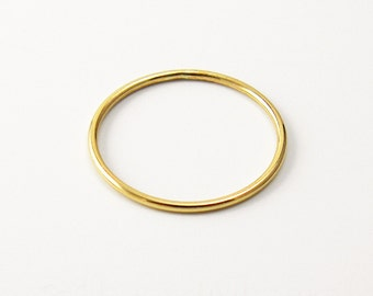 Thin Yellow 14k Gold Filled Smooth Stacking Ring (18 gauge)