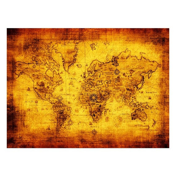 Antique world map 1m handmade leather wall hanging travel gumiabroncs Gallery