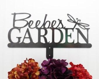 Metal Garden Sign   Name Sign   Custom Name Sign   Garden Sign   Metal Sign   Personalized Gift   Custom Garden   Dragonfly