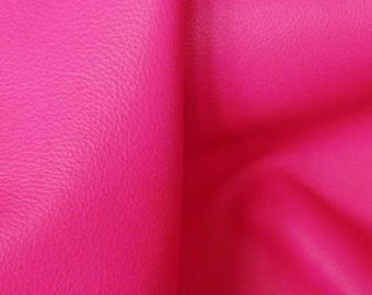 """NEON Leather 8""""x10"""" Pebbled HOT PINK Neon soft Cowhide shows the grain 2.75-3 oz / 1.1-1.2 mm PeggySueAlso™ E2530-02B"""