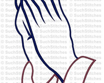 Praying Hands Applique Machine Embroidery Design