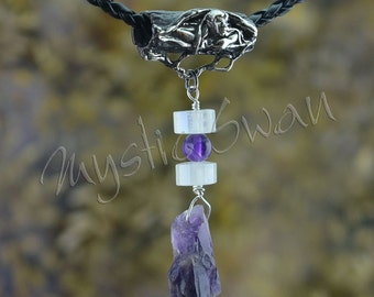Faerie Tube Bail with Amethyst and Moonstone