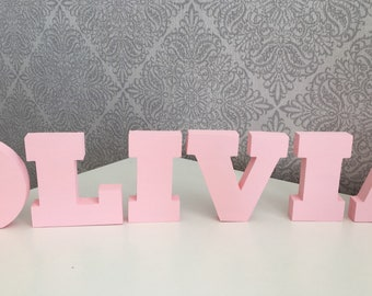 Wooden letters - freestanding- letters/ names/Alphabet/words/initials