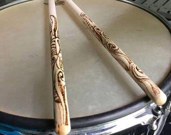 Personalized drumsticks - Custom made drum sticks - snare drum sticks - hand percussion - drummer - drummer gift - customized drumsticks