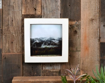 5x5 inch Square Picture Frame in 1x1 Flat Style with Vintage White Finish - IN STOCK - Same Day Shipping - 5 x 5 Photo Frame Off White