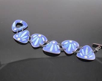 Bluebird-Handmade Enamel Bracelet
