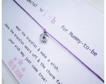 Wishing Bracelet 'A special wish for mummy to be' Wish Bracelet Gift