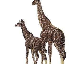 Giraffe and Calf Applique Patch (Iron on)