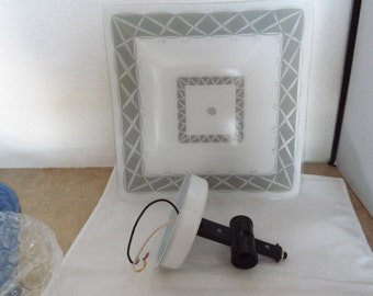 Retro Ceiling Mount Light Shade and Fixture