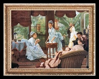 The Conservatory Party Miniature Dollhouse Art Picture 6803