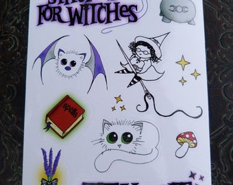 Stitches For Witches Sticker Sheet