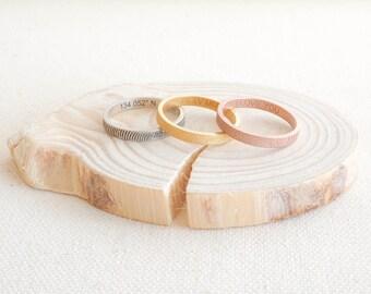 Skinny FingerPrint Ring • Fingerprint Jewelry • Custom Baby FingerPrint Ring • Wedding Band • Personalized Gift • MOTHERS DAY GIFT • RM22F31