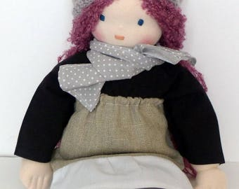 Waldorf doll 40 cm - organic cotton - hand made - made in France
