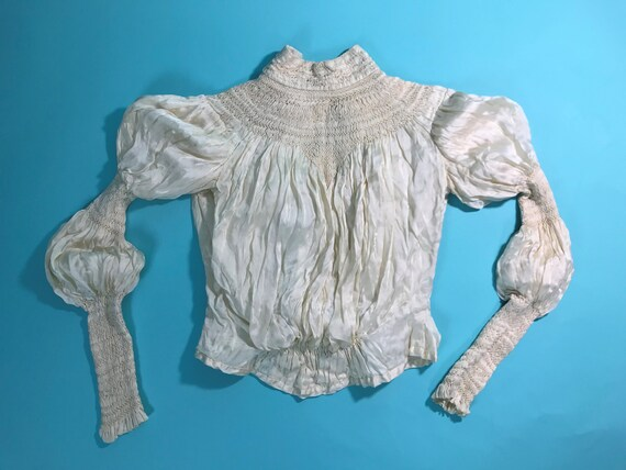 Museum XS Blouse Stitches Quality Smocking RARE Silk Victorian S0pWfq