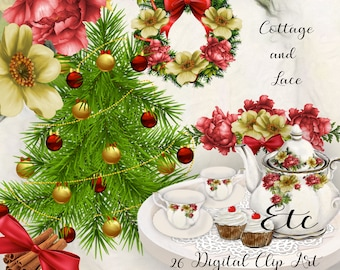 Christmas Clipart, Winter Clipart, Christmas Clipart, Christmas Clipart, Holiday Clipart, Christmas Graphics, PNG, Instant Download P 207