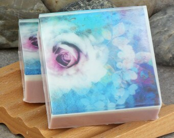 Graphic Art Soap Soft Muted Florals I in a Light Floral Scent