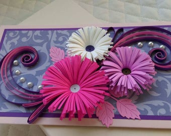 Mothers Day Greeting Card/ Happy Birthday Card/ All Purposed Quilled Greeting Card