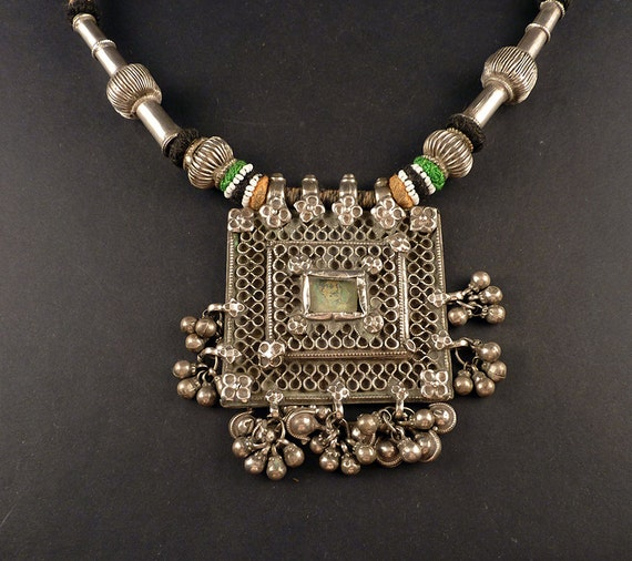 Rajasthan old silver filigree pendant indian jewelry like this item aloadofball Image collections