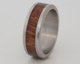 man wedding ring koa ring wood ring wedding band Hawaiian wood ring