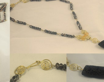 """Necklace """"the Dragon and the golden thread"""""""