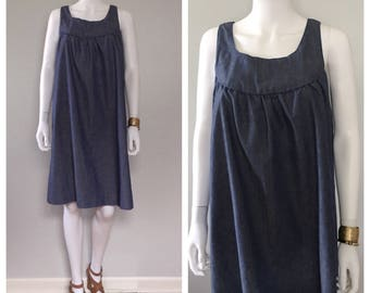 Vintage Denim Smock Dress