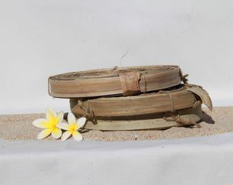 Lauhala rouleau, lauhala petit rouleau 1/2 livre de lauhala coupe feuilles, costumes de Tahiti, tissage, nattes