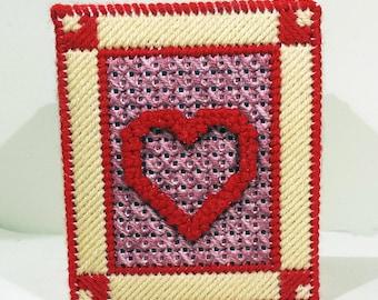 Tissue Box Cover - Valentine Hearts - Fits a boutique tissue box.