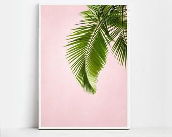 Palm Leaf Print Palm Leaves Palm Print Tropical Leaf Palm Art Tropical Print Plant Print  Printable Art Print Download