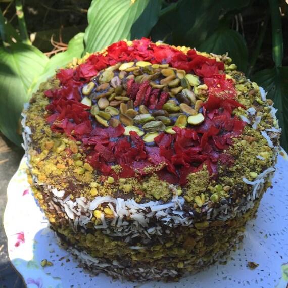 Vegan Chocolate Pistachio Coconut  Cake!