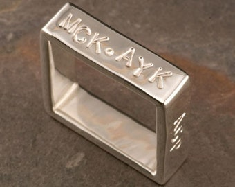 Wedding Rings Silver Men and Women Personalized