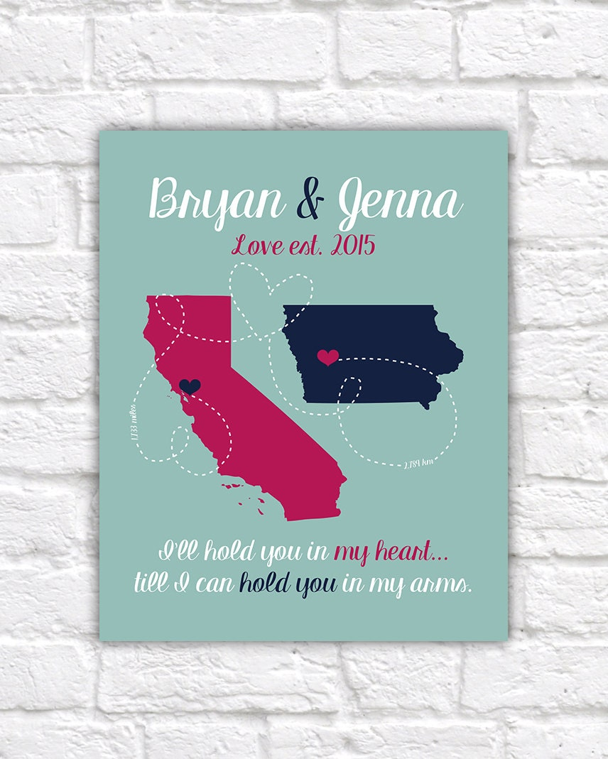 Long Distance Boyfriend Gift For Anniversary Husband Fiance