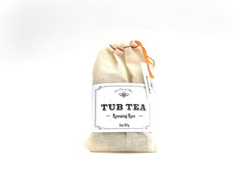 Renewing Rose Bath Soak / Tub Tea / Organic Herbal Bath in a Bag