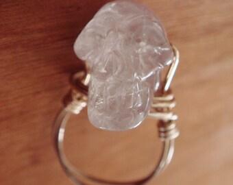Amethyst Skull Ring