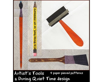 Artist's Tools Paper Pieced Pattern Set
