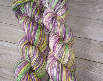 Snow Crocus Self-Striping Sock Yarn