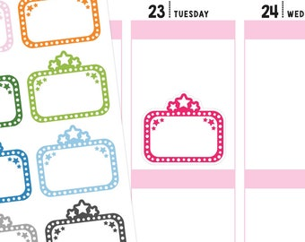 Movie Marquee Planner Stickers, Movie Marquee Stickers, Movie Stickers, Movie Planner Stickers