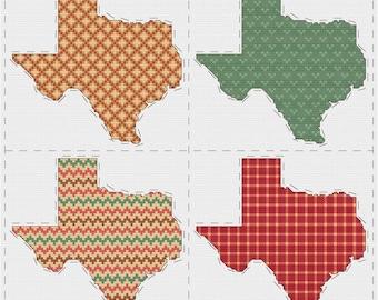 Texas cross stitch sampler - PDF pattern INSTANT DOWNLOAD