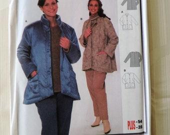 Burda 8730 Plus Size 18-28 Women's Coat/Jacket Sewing Pattern / Uncut/FF