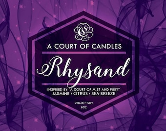 Rhysand - 100% Soy Wax Candle 9oz