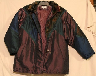 Cambridge Quilted Lined Coat Women's Large Vintage 1990's